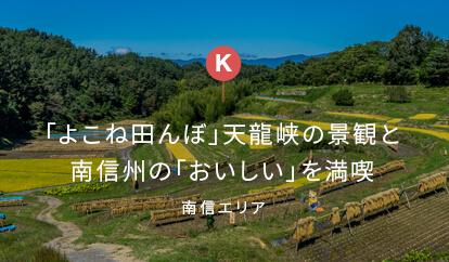 「よこね田んぼ」、天龍峡の景観と南信州の「おいしい」を満喫